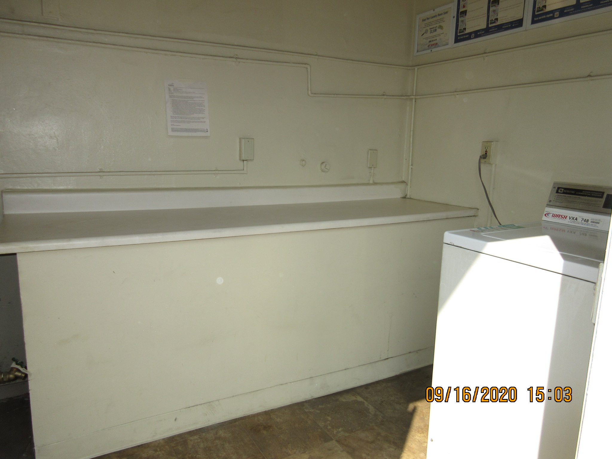 View of a laundry room.