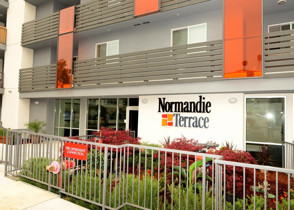 Normandie Terrace Sign