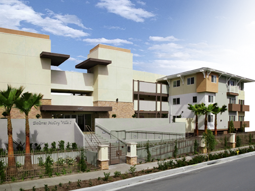 Street view of a proposed project