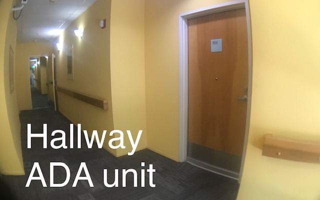 View of the building hallway